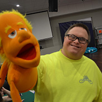 member with puppet